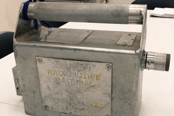 Analizan contenedor radiactivo recuperado