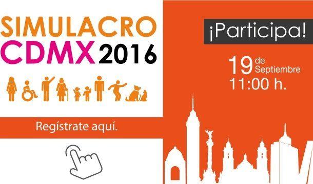 Registrate y participa en el Simulacro CDMX 2016