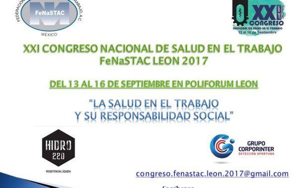 Ya falta poco para el XXI Congreso Nacional de Salud en el Trabajo León 2017 ¿Ya te inscribiste?