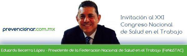 Invitación al XXI Congreso Nacional de Salud en el Trabajo