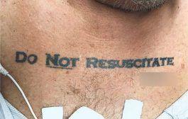 Tatuaje DNR provoca dilema médico