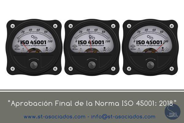 25 de Enero será el día de la aprobación final de la norma ISO 45001: 2018