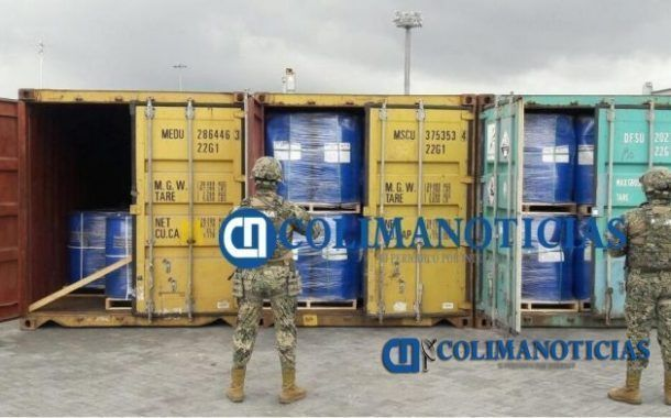 50 mil kilogramos de cloruro de bencilo son asegurados en Manzanillo