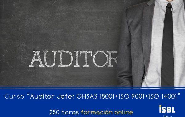 Curso En Linea: Auditor Lider: ISO 9001 + ISO 14001 + OHSAS 18001