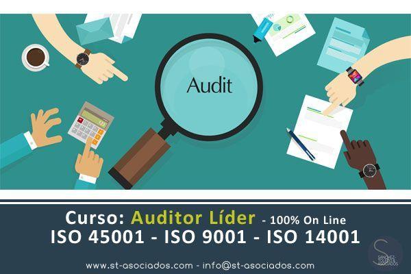 Curso: Auditor Líder (100% OnLine) - ISO 45001 - ISO 9001 - ISO 14001 (Mayo 2018)