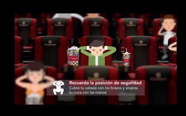 """Cinemex y SEGOB presentan """"Cineminuto"""" de """" Cine Seguro """", estrategia para prevenir riesgos"""