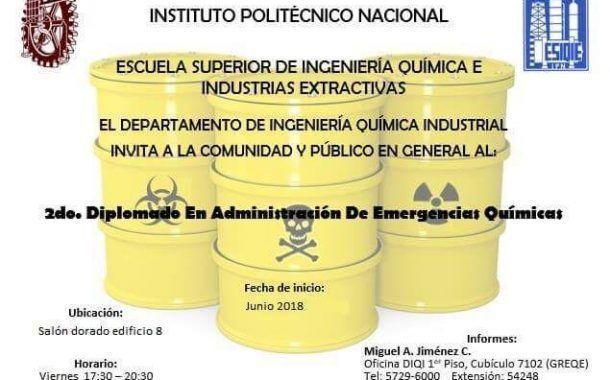 ¡Asiste! Diplomado en administración de emergencias químicas