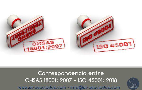 Gratis - Relación entre OHSAS 18001: 2007 e ISO 45001: 2018