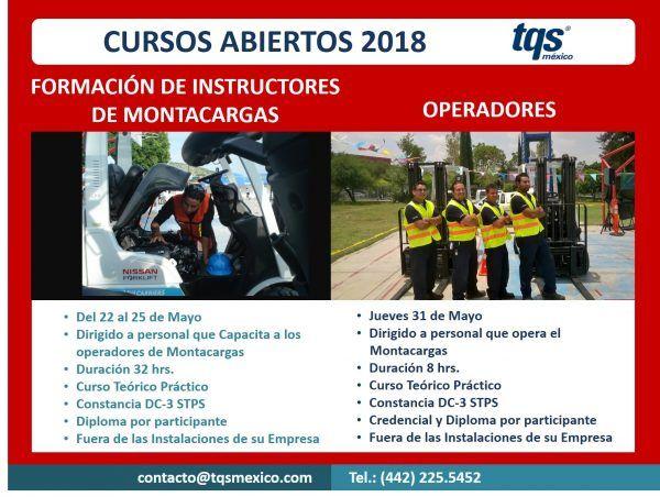 ¿Ya conoces los cursos de montacargas para instructores y operadores impartidos por TQS México?