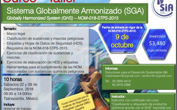 ¡Nueva fecha para el curso-taller sobre SGA!