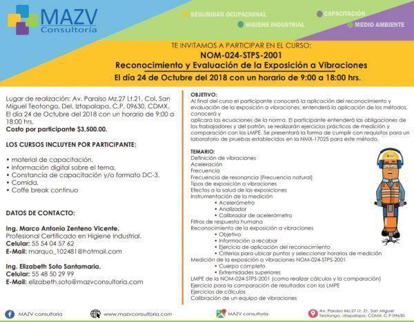 ¡Inscríbete! Cursos de MAZV Consultoría en octubre