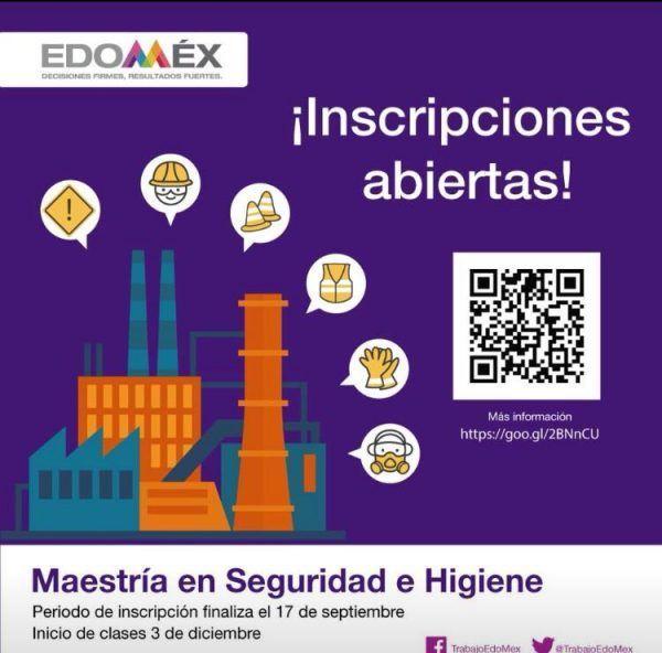 ¡Inscripciones abiertas! Maestría en Seguridad e Higiene Ocupacional