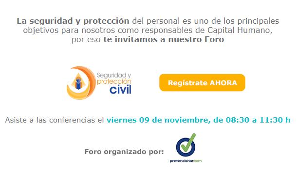 ¡No te pierdas el Foro Seguridad y Protección Civil en la Expo Capital Humano!