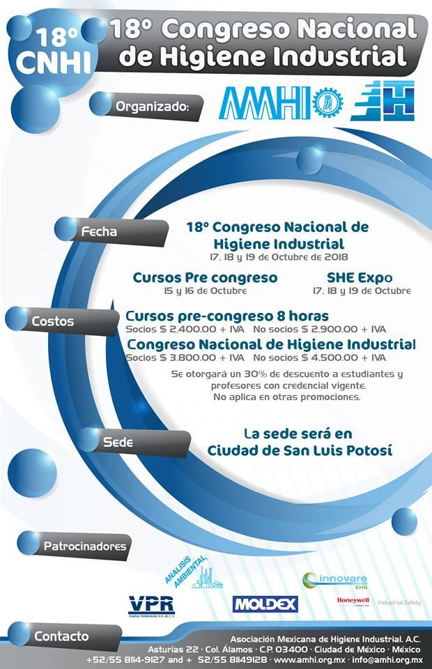 Todo listo para el 18 Congreso Nacional de Higiene Industrial
