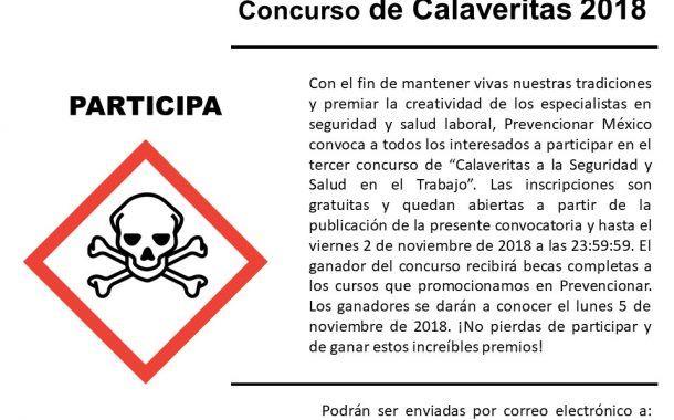 ¡Participa en el tercer concurso de calaveritas a la seguridad y salud laboral!