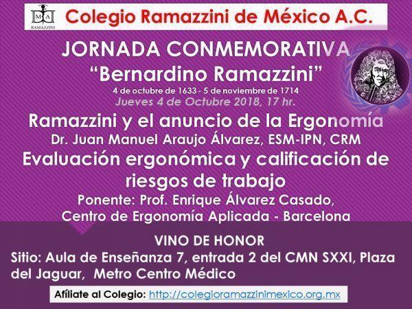 ¿Te perdiste la Jornada Conmemorativa Bernardino Ramazzini?