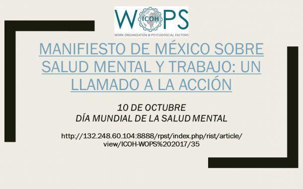 Consulta el Manifiesto de México sobre Salud Mental y Trabajo: Un llamado a la acción