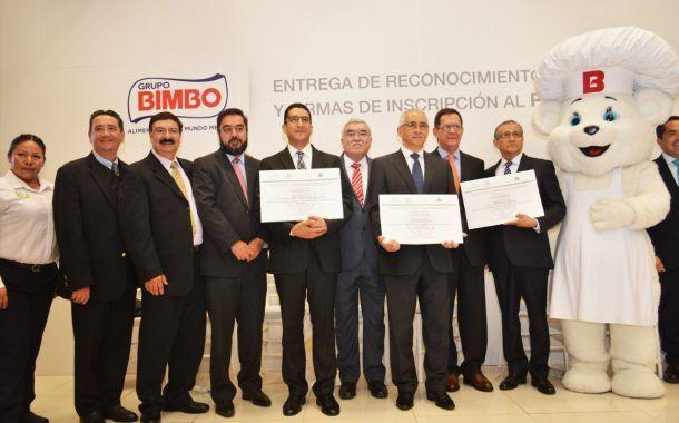 Tres plantas del Grupo Bimbo recibieron el distintivo