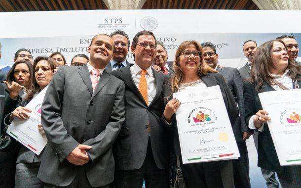 La STPS reconoce a empresas incluyentes