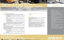 Tenemos becas para el taller para el cumplimiento de la NOM-030-STPS-2009 organizado por la AMHI