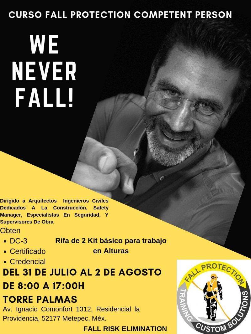 Nuevamete, Maximiliano Carbajal impartirá curso Fall Protection Competent Person