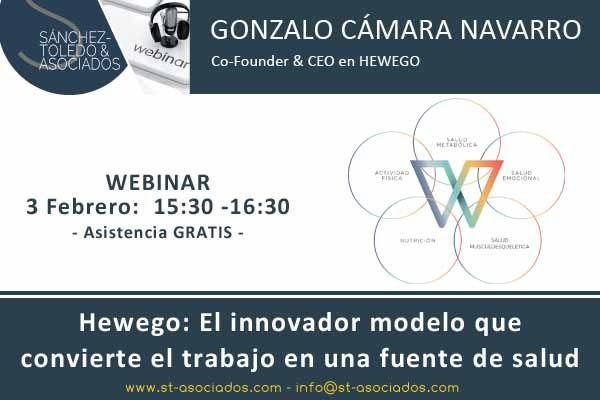 3-febrero - Hewego, el innovador modelo que convierte el trabajo en una fuente de salud #webinar