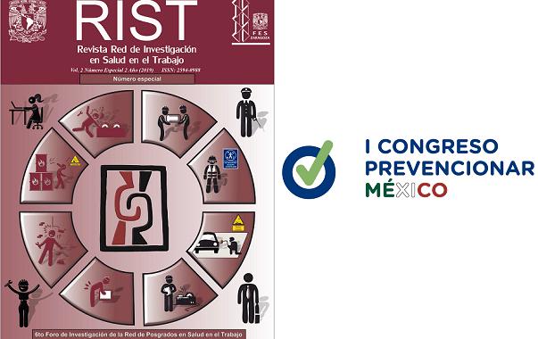 Los resúmenes de las presentaciones orales y carteles científicos del I Congreso Prevencionar México han sido publicados en la Revista RIST