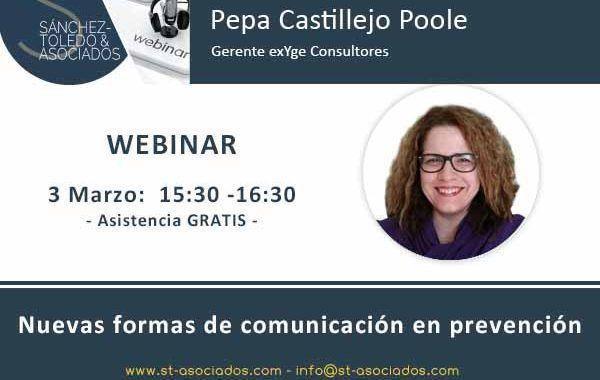 Webinar: Nuevas formas de comunicación en prevención #Gratis