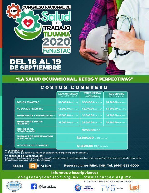 Asiste al XXIV Congreso Nacional de Salud en el Trabajo de la FeNaSTAC 2020