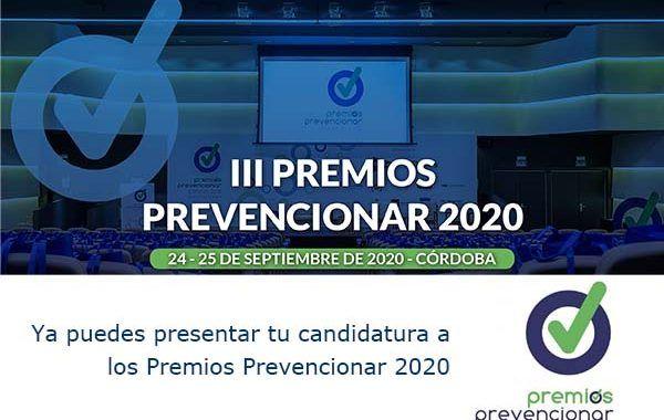 Ya puedes presentar tu candidatura a los Premios Prevencionar 2020