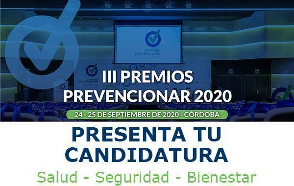 III Premios Prevencionar 2020 - Presenta tu candidatura