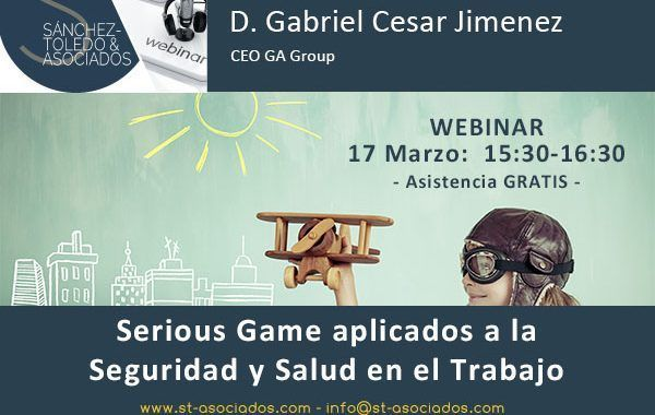 Webinar: Serious Game aplicados a la #PRL (Último día de inscripción)