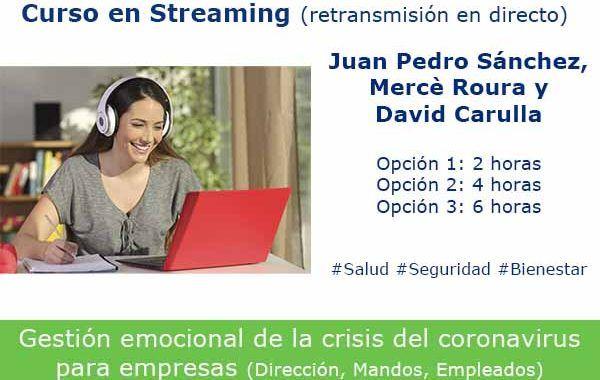 Formación OnLine: Gestión emocional de la crisis del #coronavirus para empresas