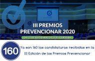 Ya son 160 las candidaturas recibidas en la III Edición de los Premios Prevencionar