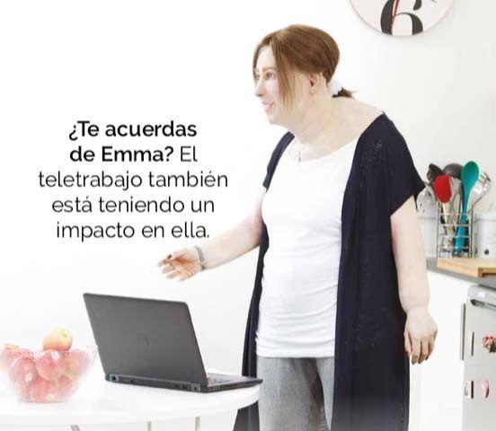 Emma, la trabajadora del futuro, muestra las secuelas de salud que el teletrabajo puede haber acelerado'