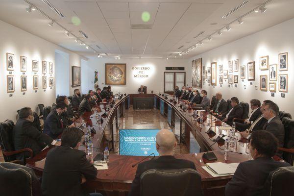 Se llega a acuerdo histórico sobre iniciativa en materia de subcontratación entre los sectores obrero, empresarial y el Gobierno de México.