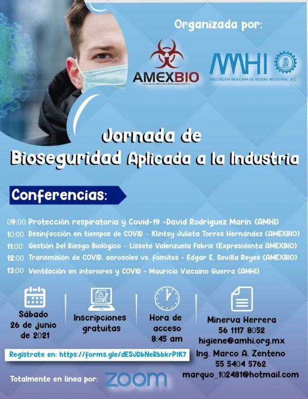 Inscríbete a la Jornada de Bioseguridad aplicada a la industria