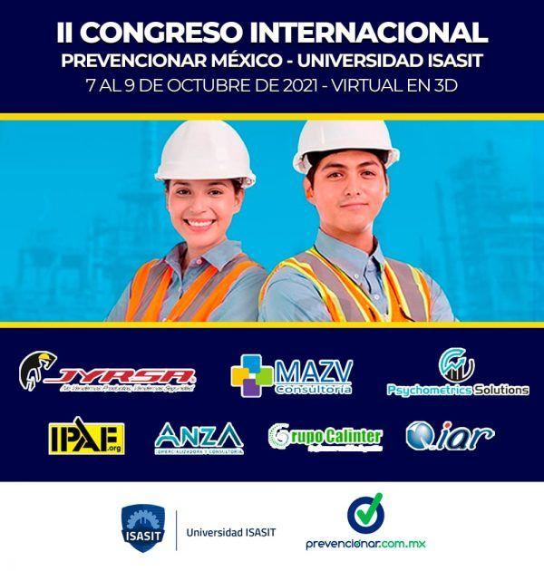 Ya está aquí el PROGRAMA OFICIAL del II Congreso Internacional Prevencionar México - Universidad ISASIT: ¡Conócelo!