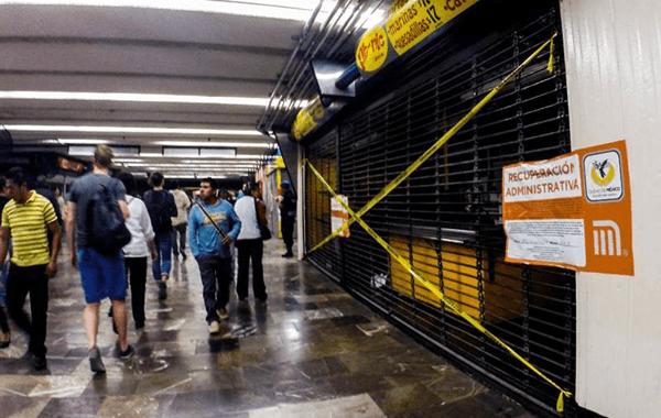 Recuperan locales del Metro Hidalgo, incumplían con las medidas de seguridad pertinentes