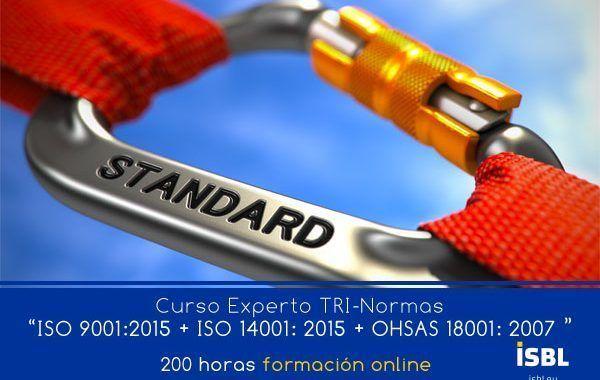 Curso OnLine: Experto TRI-Normas (ISO 9001 + ISO 14001 + OHSAS 18001)