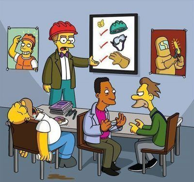Simpsons vs prevencion de riesgos laborales