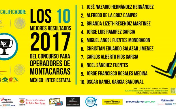 Estos son los ganadores del Concurso para Operadores de Montacargas 2017
