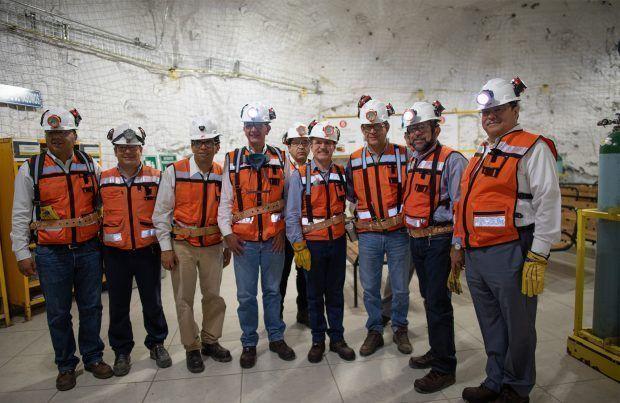 trabajadores mineros