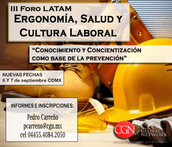 ¡Se acerca el III Foro LATAM Ergonomía, salud y cultura laboral!