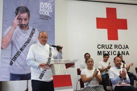 Con campaña, Cruz Roja previene accidentes viales