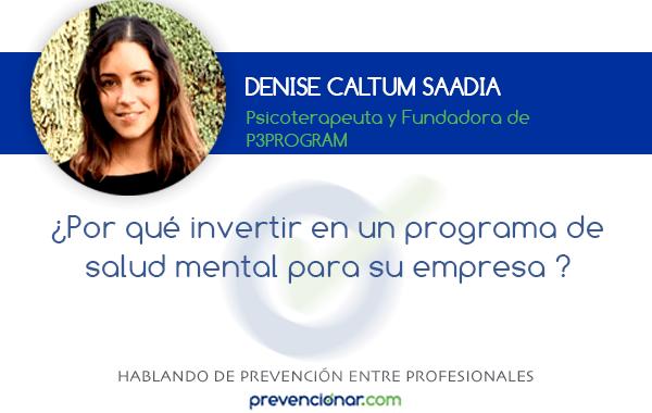 ¿Por qué invertir en un programa de salud mental para su empresa ?