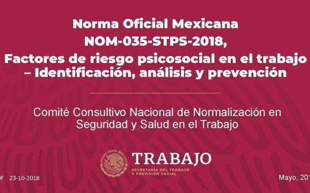 Descarga la presentación de la conferencia sobre la NOM-035-STPS-2018 impartida por la STPS