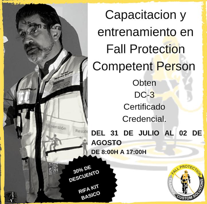 Maximiliano Carbajal impartiendo Capacitacion Fall Protection Competent Person.