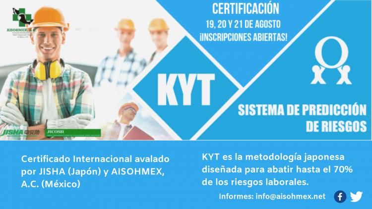 ¡Tenemos dos becas para la Certificación KYT, sistema de prevención de riesgos!