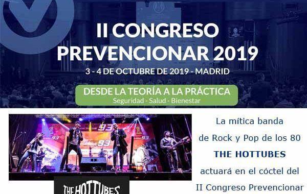 La mítica banda de Rock y Pop de los 80  THE HOT TUBES  actuará en el cóctel del  II Congreso Prevencionar